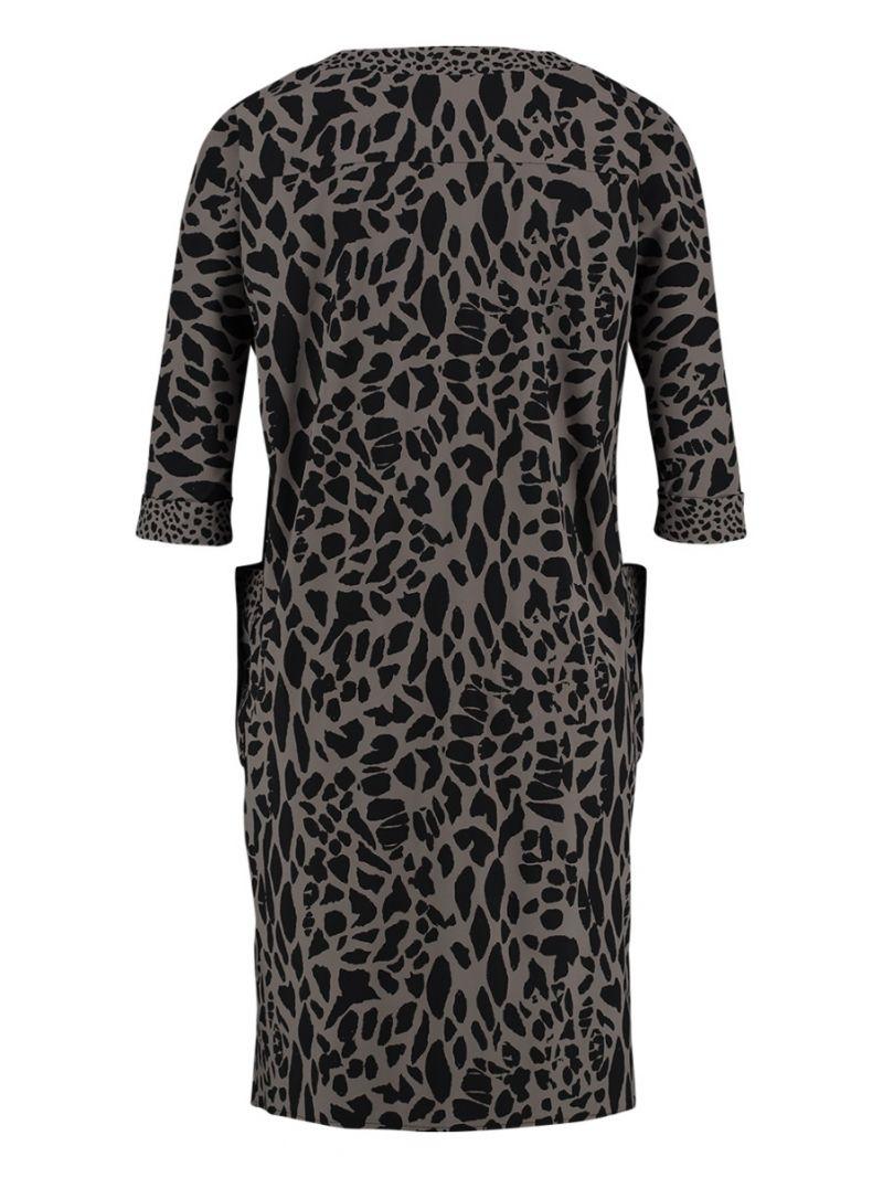 Reise-Kleid mit Leo-Print und Taschen