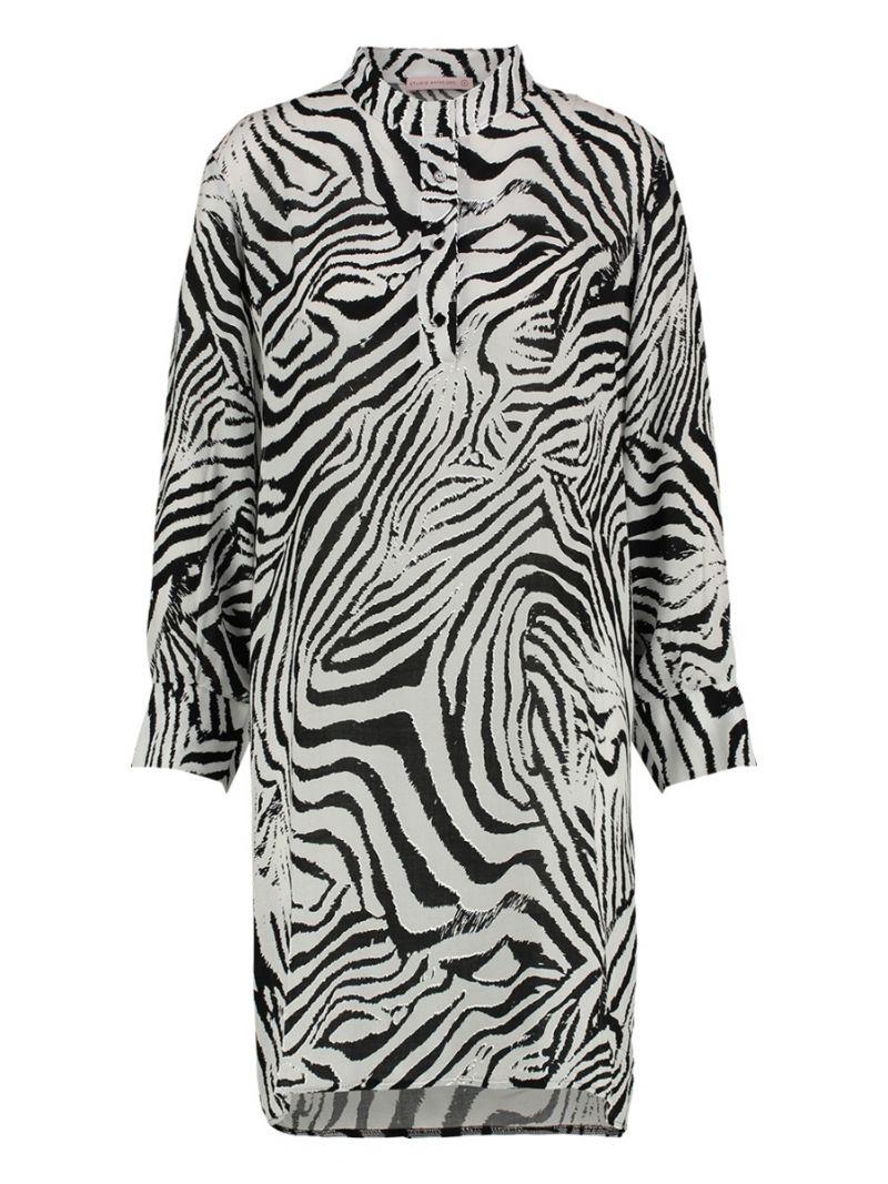Zebra-Bluse lang