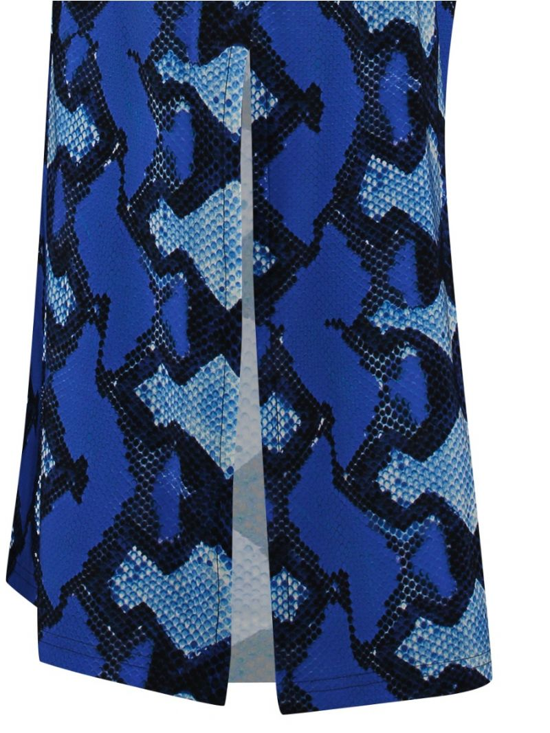 Langes Kleid-Snake Print