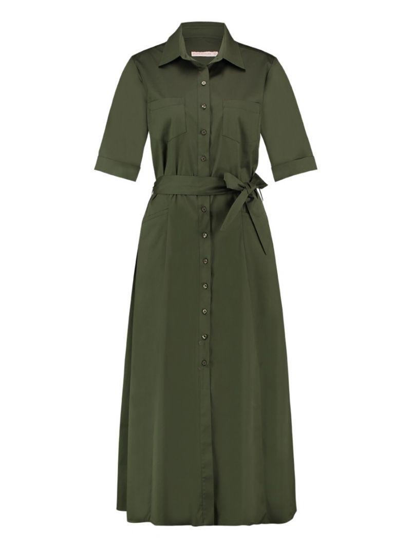 Kleid Long Popeline